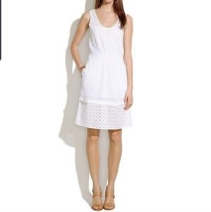 Madewell Eyelet Lovesong dress in white (size 0)